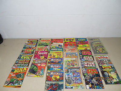 Vintage Mixed Comic Book Lot 34 Total