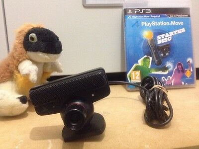 official Sony USB PLAYSTATION 3 EYE CAMERA  wired MOVE motion games starter disc