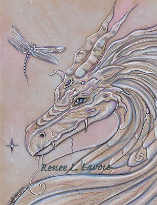 Dragon dragonfly  greeting card AND magnet by Renee L Lavoie made in the USA