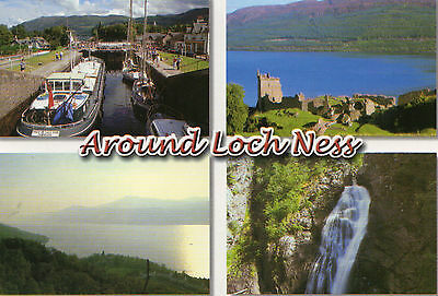 postcard Scotland Aound Loch Ness  l unposted Hinde