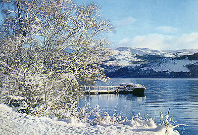 postcard Scotland Winter on Loch Ness Inverness- shire  posted  Dixon