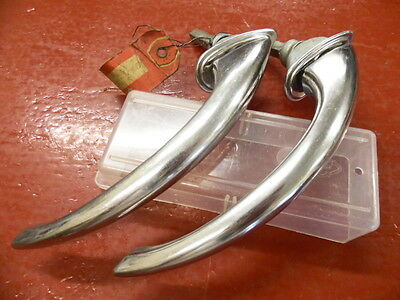 """1939 1940 Mercury Coupe Door Handle Pair Exterior Nos Stainless 2 3/4"""" Shafts"""