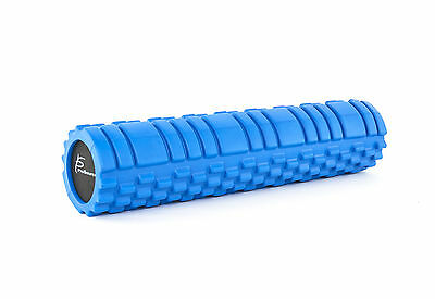 """ProSource Fitness Foam Roller 24"""" x 6"""" Deep-Tissue Massage Muscle Therapy Blue"""