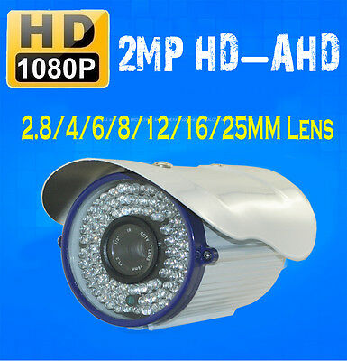 HD-AHD 2.0MP 1080P 84LED 2.8/4/6/8/12/16/25MM IR-CUT D/N CCTV Wapterproof Camera
