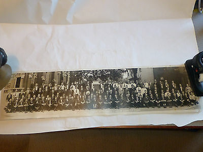 Vintage Mount Clemens Michigan Yard Long Photo Knights of Columbus 1921 Picture