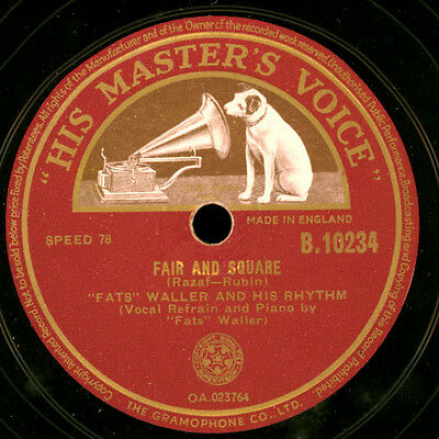 FATS WALLER & HIS RHYTHM  Fair and square / Winter weather      78rpm  X2063