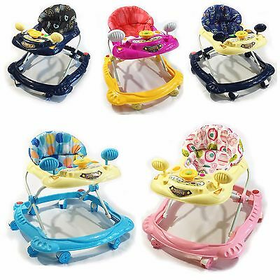 Baby Walker Car pink Activity First Steps Music Melody Toy Adjustable Bright New
