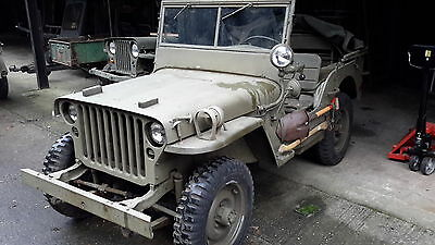 Willys jeep 1945 MB military vehicle classic car barn find
