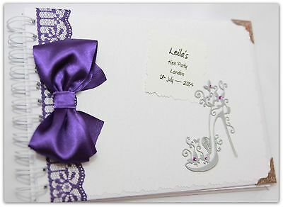 Personalised Hen Night/Party Memory/Scrap book/ Gift purple hen do party gift
