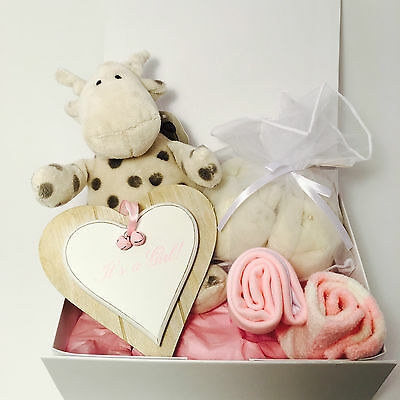 New Baby Girl Gift Box Hamper Baby Shower Basket