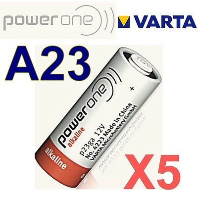 Lot de 5 piles A23 POWER ONE by VARTA 12 Volts  LR23A GP23A V23GA MN21 -BULK-