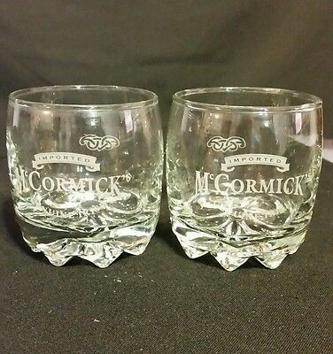 Set Of 2 McCormick's Irish Whiskey Glasses Excellent Condition