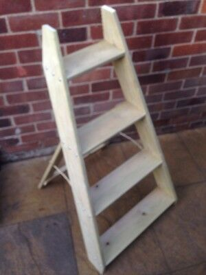 4 Tier Wooden Plant Display Stand/plant Theatre