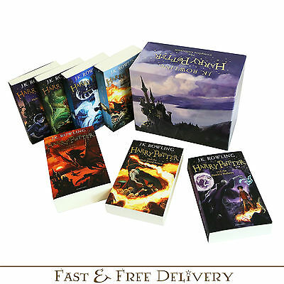 Harry Potter Complete 7 Books Collection Original Children Boxed Gift Set New