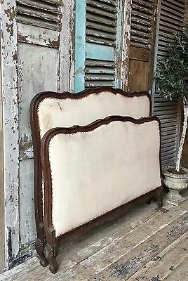 Vintage French double bed frame - Great Upholstery Project