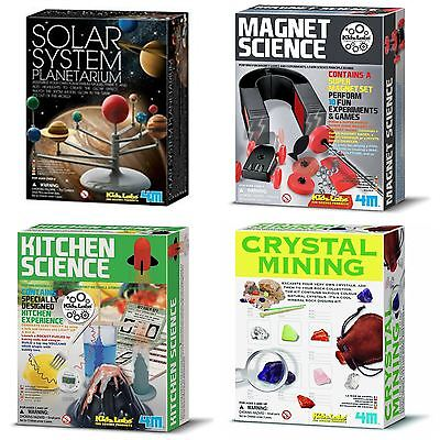 Kidz Labs Science Sets, Magnet & Kitchen Science - Solar System & Crystal Mining