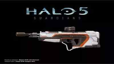 Halo 5 Recon DMR with Silencer & Clash DMR Weapon Skin DLC Xbox one.