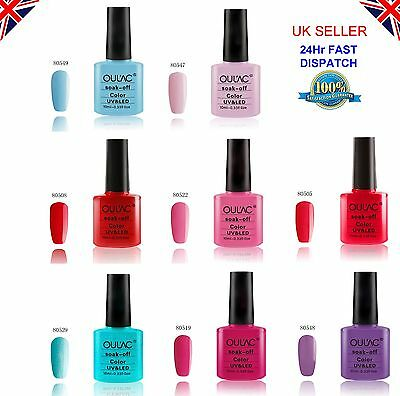 Oulac Gel Nail Polish UV/LED Soak Off - 100+ Colours to choose from - 10ml