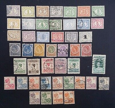 1902 - 1923 Netherlands Indies collection of 46 Postage Stamps Used