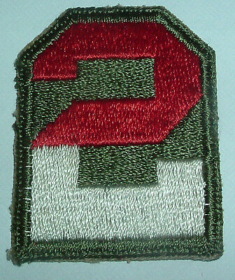 AMERICAN PATCHES-ORIGINAL WW2 2nd UNITED STATES ARMY