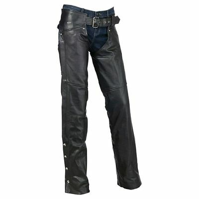 Z1R Womens Carbine Leather Motorcycle Street Sport Road Bike Riding Pant Chaps