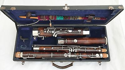 Heckel Biebrich No.5264 German Bassoon, Orig.Case, C2 Bocal - complete restored