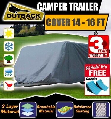 Outback Explorer Camper Trailer Cover 14-16 ft 4.3-4.7m Jayco Swan Free Chocks
