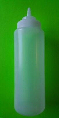 1 PC Clear Wide Mouth Squeeze Bottle 32oz. Restaurant Grade