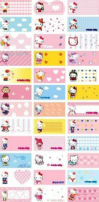 45 HELLO KITTY Personalised Name Stickers,Labels,Tags