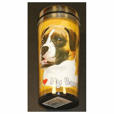 Boxer Uncropped Dog Stainless Steel Insulated Travel Tumbler Thermos