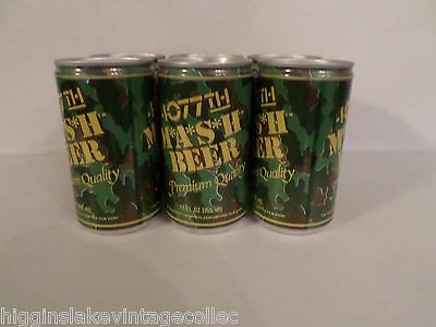Six Pack Novelty 4077th M*A*S*H Premium Quality Camo 20th Century Fox Beer Cans