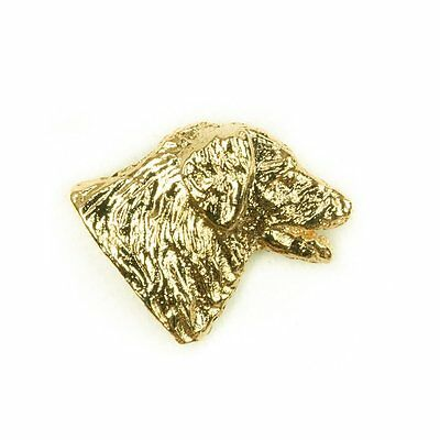 LEONBERGER Made in U.K Artistic Style Dog Clutch Lapel Pin Collection 22ct Gold