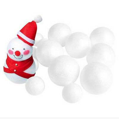 12x Modelling Polystyrene Styrofoam Foam Ball XMAS Decor Wedding Party