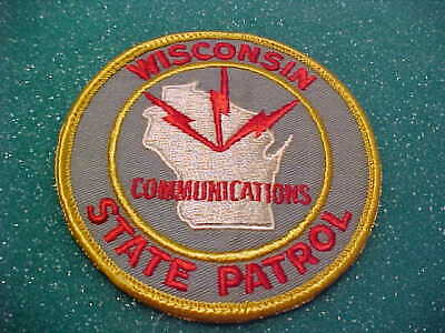 1960S Wisconsin State Patrol Communications Police Patch Rare Used 4 X 4 Inch
