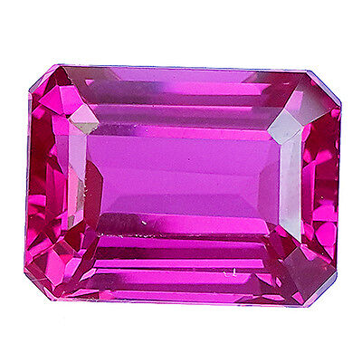 12.75 Cts Excellent Purple Pink  Emerald Cut Lab Created Sapphire