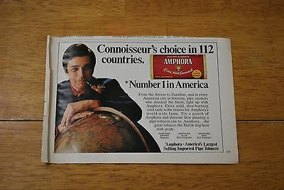 Amphora Pipe Tobacco 1970 Playboy Magazine ad - Very Good