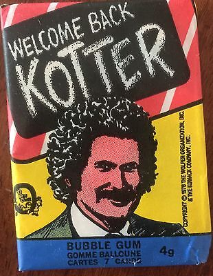 1976 - Topps - Welcome Back Kotter - TV Wax Pack Sealed - Unopened