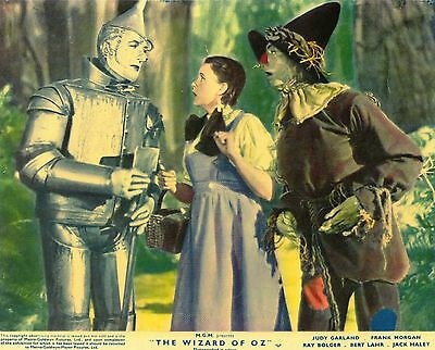 The Wizard Of Oz 1939 Film Movie English Foh Stills Lobby Cards 70's Re-Release
