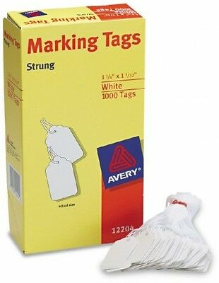 1000 PACK Avery Marking Price Tags. White Label Strings Sale Discount Storage 10