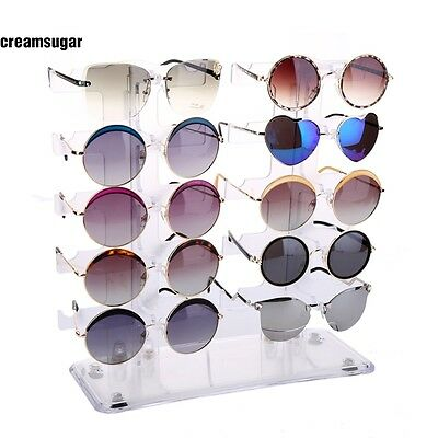 Detachable Acrylic Clear Sunglasses Display Stand Holder Rack Retail Show CESU
