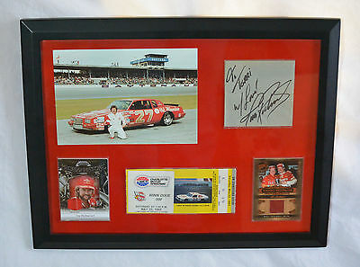 Tim Richmond Race Used Metal Firesuit Race Ticket Autographed Signed Collage