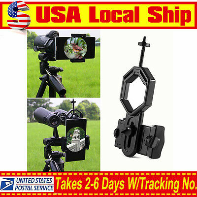Telescope Binocular Mobile Cell phone Mount holder for  iphone 6s Samsung Sony