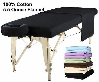 Mt Universal Massage Table Natural Cotton Flannel Sheet set 3 piece