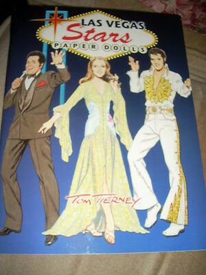 DOVER LAS VEGAS STARS PAPER DOLLS BOOK by Tom Tierney NEW UNCUT! Sinatra Elvis