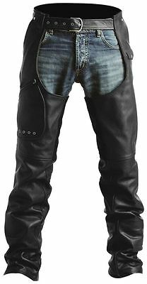 Pokerun Outlaw 2.0 Leather Motorcycle Chaps