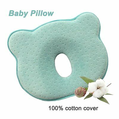 SMELOV Soft Memory Foam Baby Head Positioner Pillow,Prevent Flat Head for 0 1 in