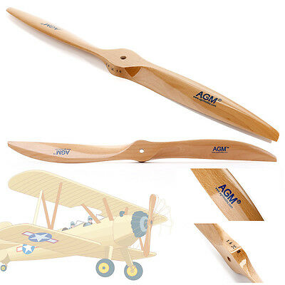 AGM Wood Wooden Propeller Prop for RC Aircraft Plane Airplane 16x8 in UK London
