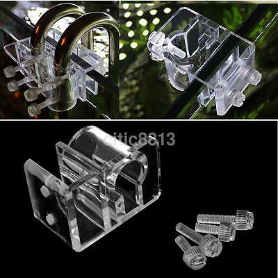Aquarium Fish Tank Water Pipe Holder Filter Hose Mount Clamp Clip Hanger DIY UK