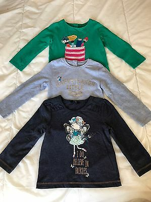 NEXT & George Baby Girl Pack Of 3 Long Sleeve Tops Age 18-24 Months