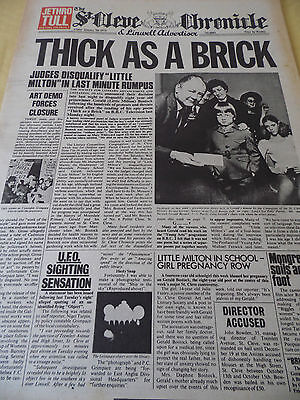 "Jethro Tull ""thick As A Brick"" 1972 Album Advert A3"